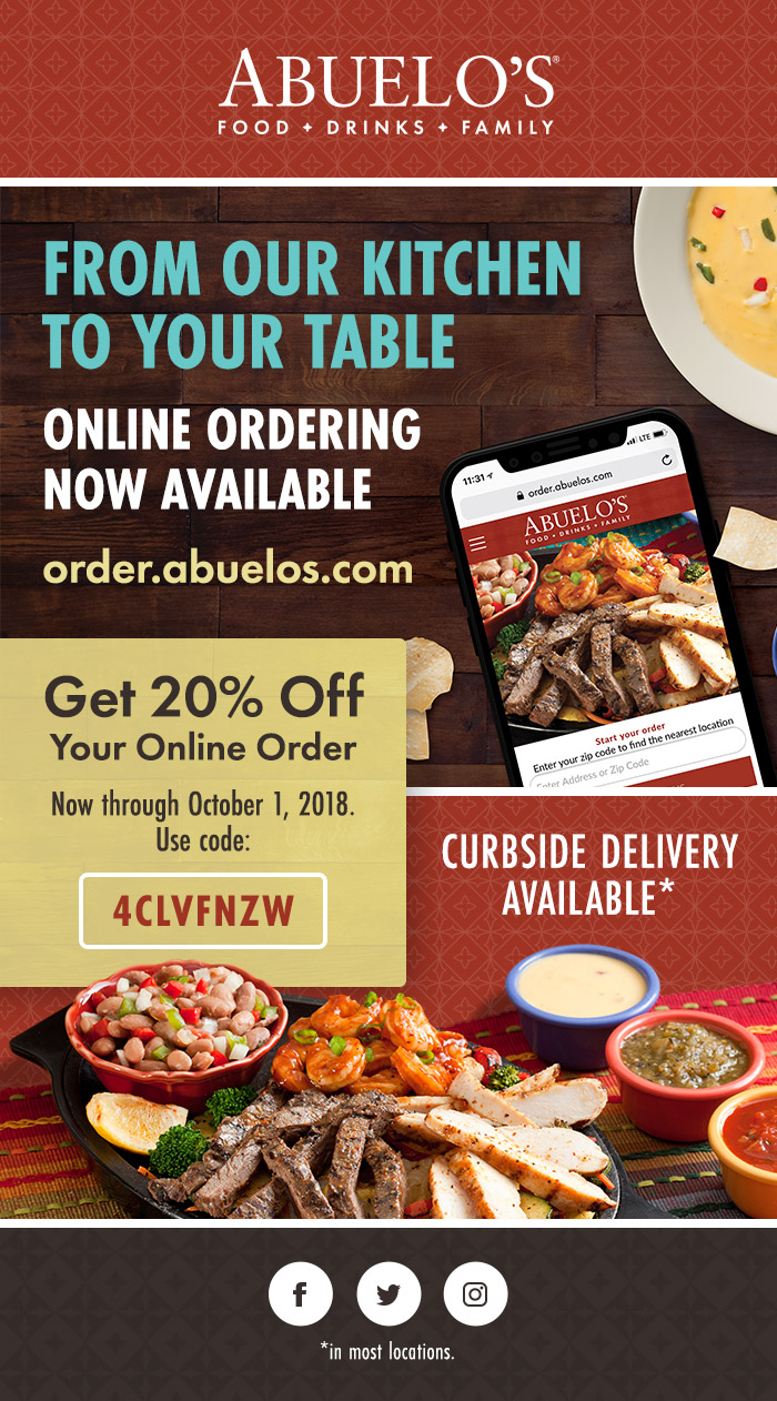 Abuelos Online Ordering email