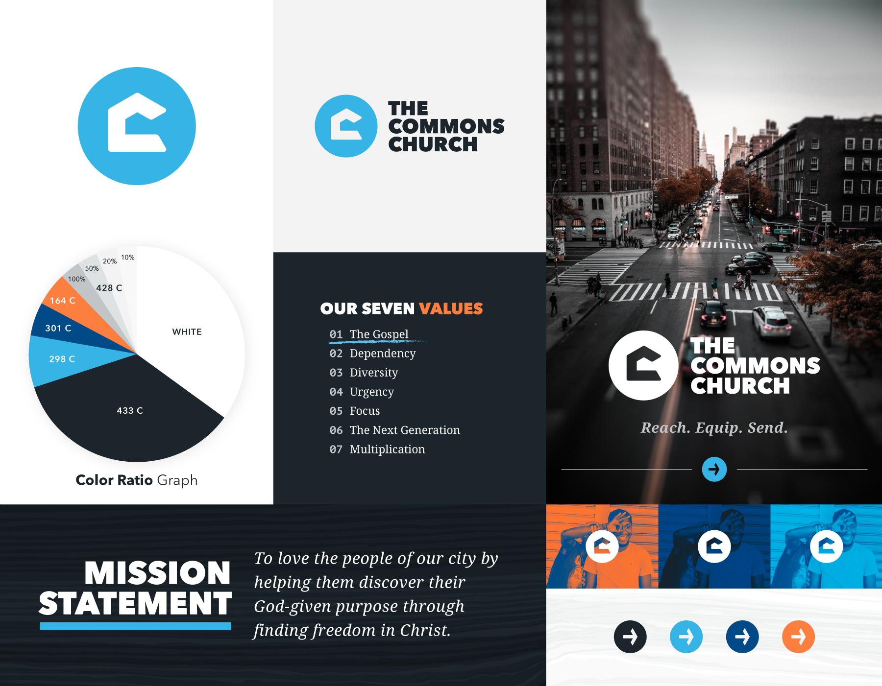 The Commons Church branding